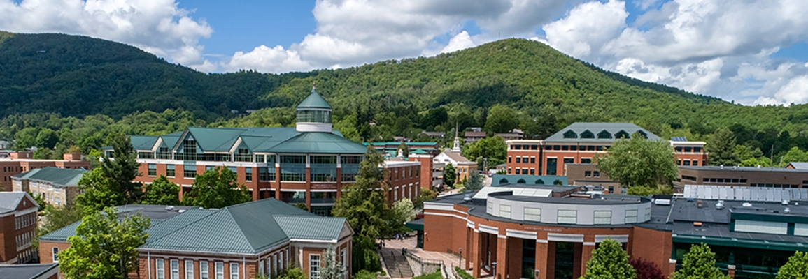 aerial view of Appalachian State University